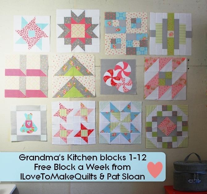 Pat Sloan Block 1 to 12 Grandmas Kitchen