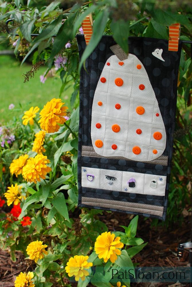 Pat Sloan Button club Sept 2017 in garden