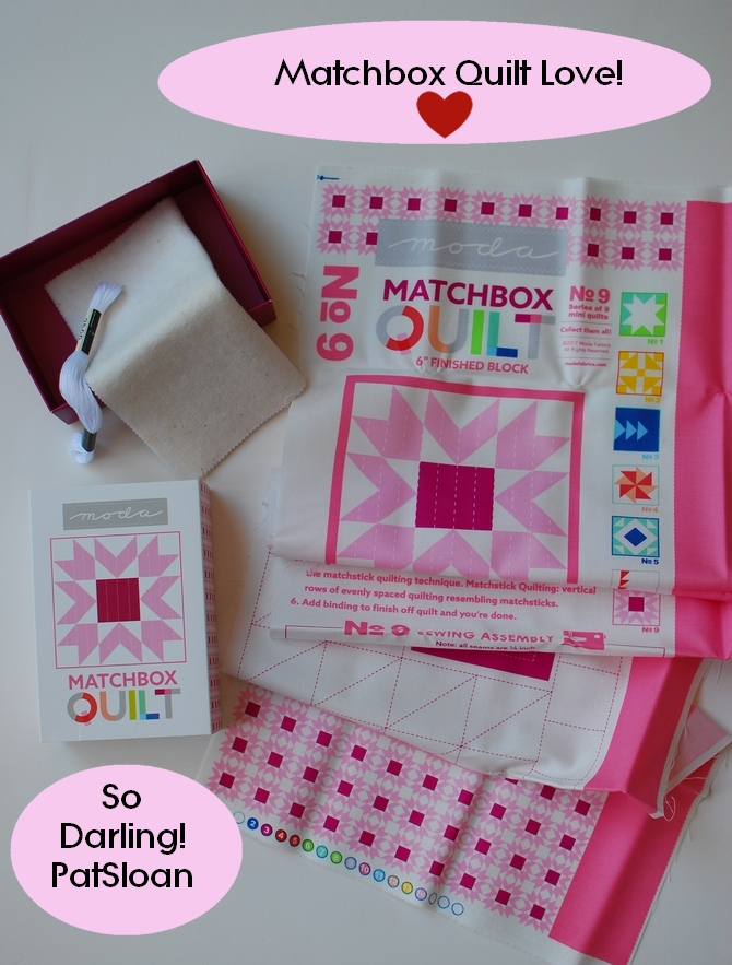 Pat Sloan Matchbox quilts