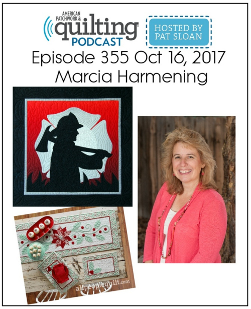 American Patchwork Quilting Pocast episode 355 Marcia Harmening
