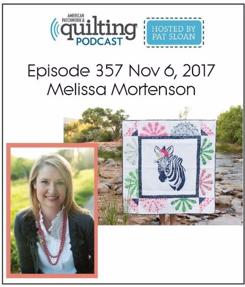 American Patchwork Quilting Pocast episode 357 Melissa Mortenson