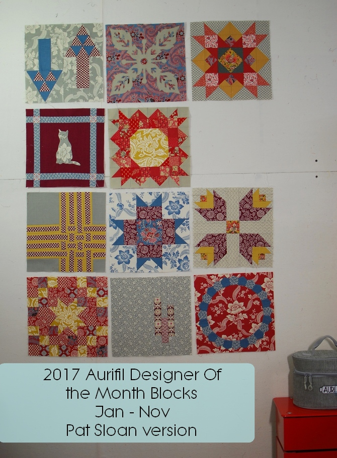 Pat Sloan aurifil 2017 jan to nov blocks