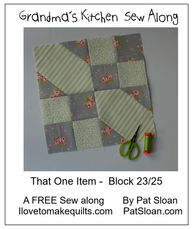Pat Sloan Block 23 directions Grandmas Kitchen banner