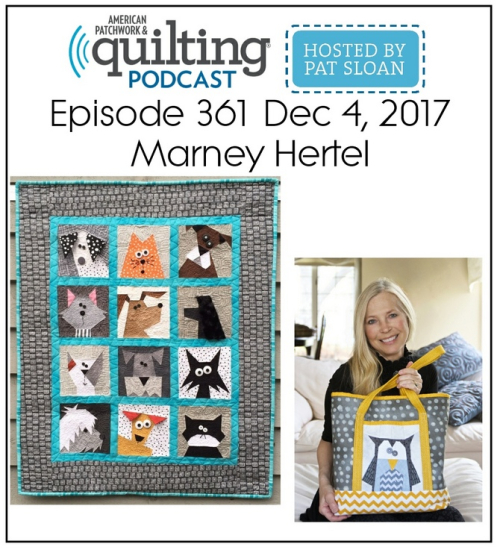 American Patchwork Quilting Pocast episode 361 Marney Hertel