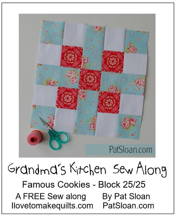 Pat Sloan Block 25 Grandmas Kitchen banner