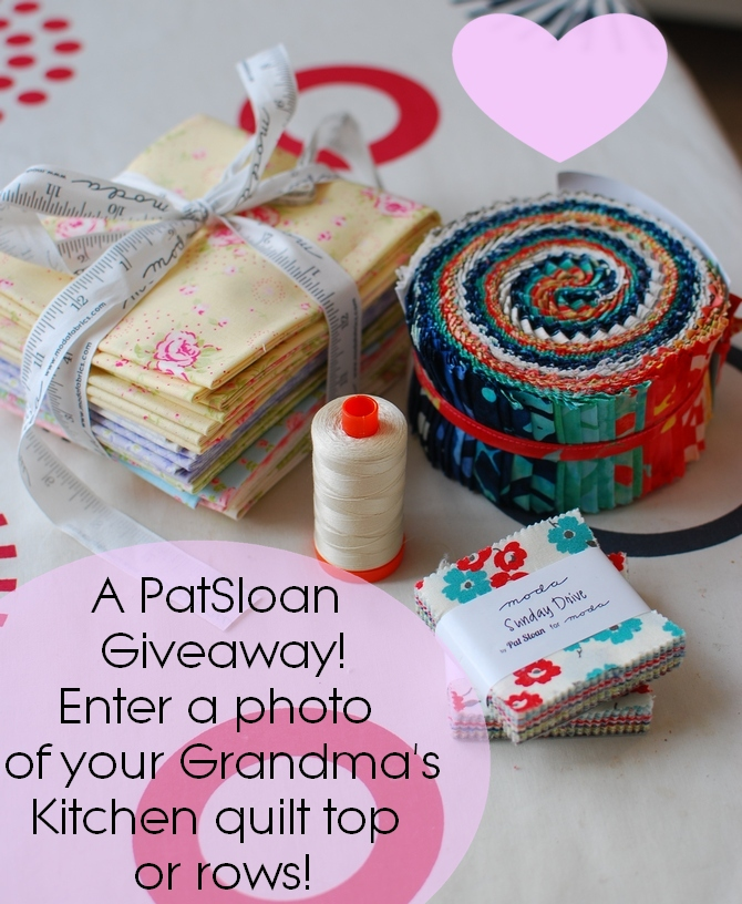 Pat Sloan Grandma Kitchen giveaway
