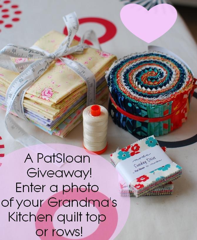 Pat Sloan Grandma Kitchen giveaway