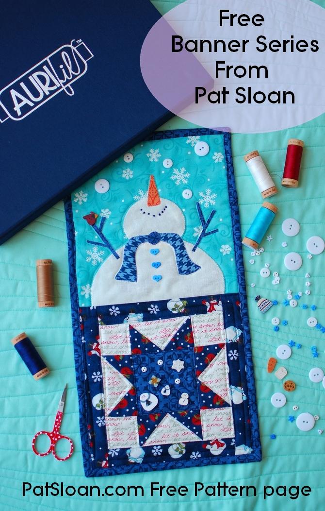 Pat sloan jan button club lets go snow banner