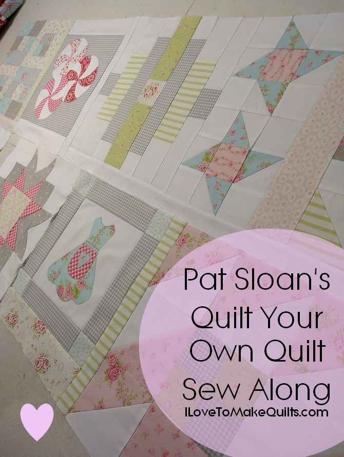 Pat sloan Quilt Your Own Quilt Sew Along button