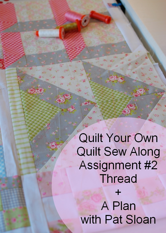 Pat Sloan quilt your own quilt assignment 2 button