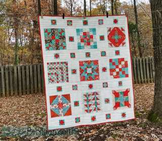 Pat Sloan Childrens library 2017 mystery quilt finished