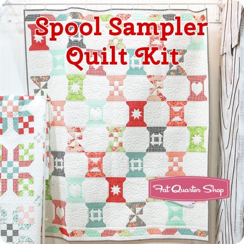 Spool sampler quilt kit