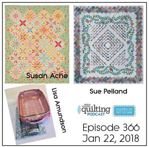 2 American Patchwork Quilting Pocast episode 366 Jan 22 2018
