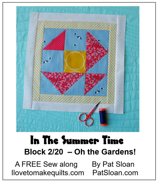 Pat Sloan Block 2 In the Summer Time banner