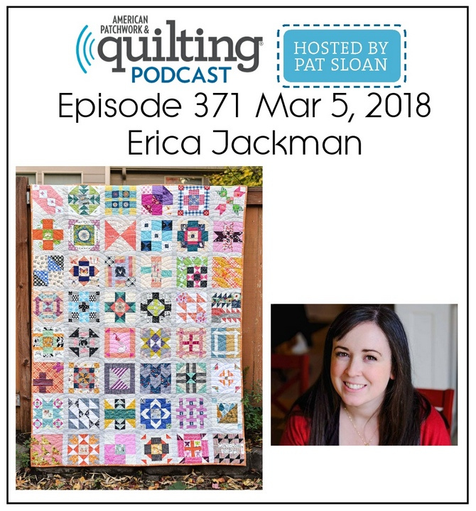 American Patchwork Quilting Pocast episode 371 Erica Jackman