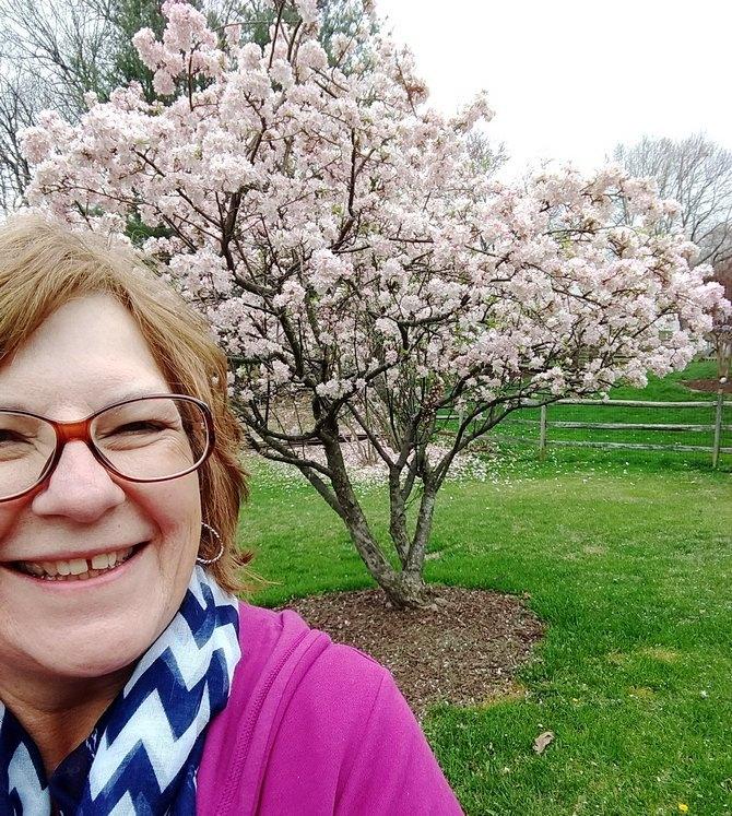 Pat Sloan and tree