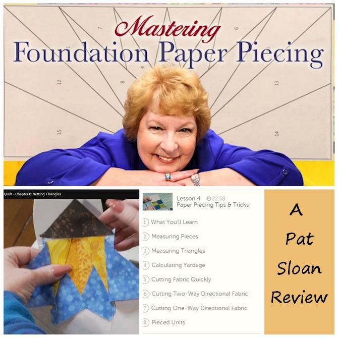 Pat sloan class review paper piecing