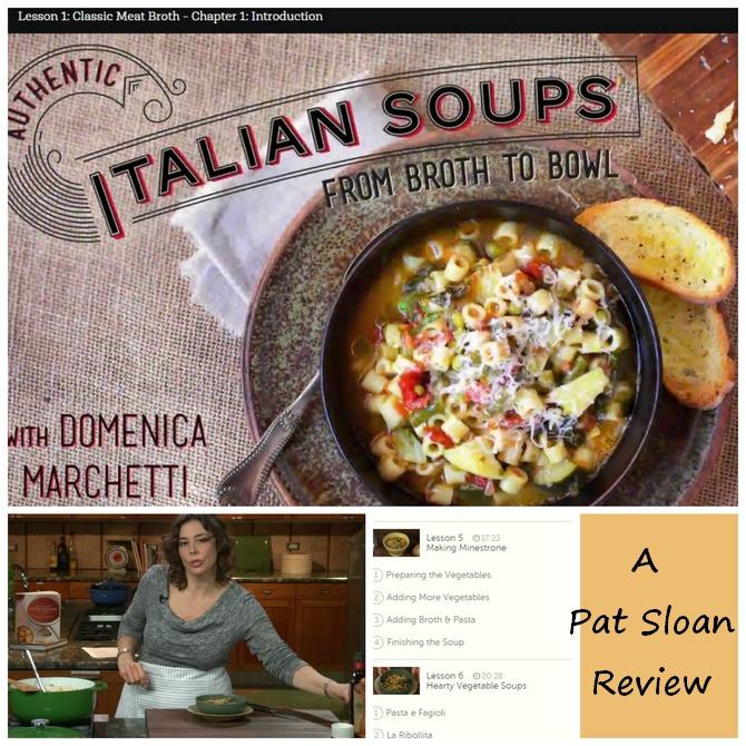 Pat sloan class review italian soups
