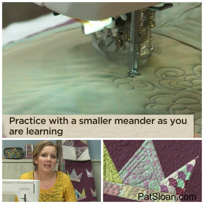 Pat sloan free motion Quilting feathers class review 6