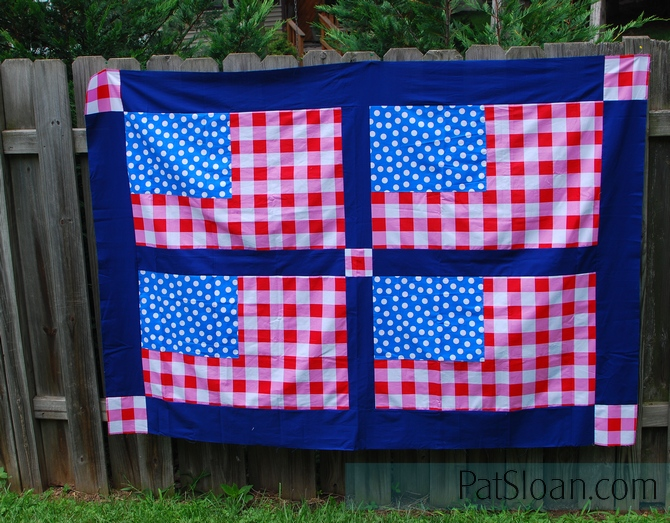 Flag quilt top given away 4
