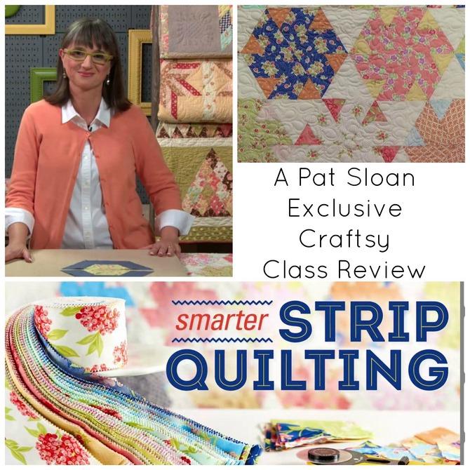 Pat sloan smarter strip quilting banner