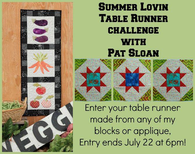 Pat sloan summer lovin table runner challenge entry