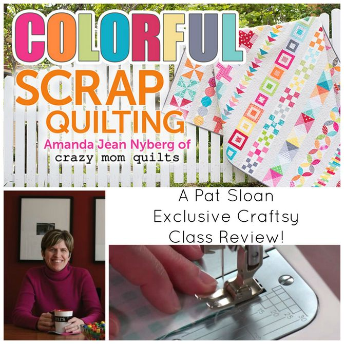Pat sloan colorful scrap quilt header