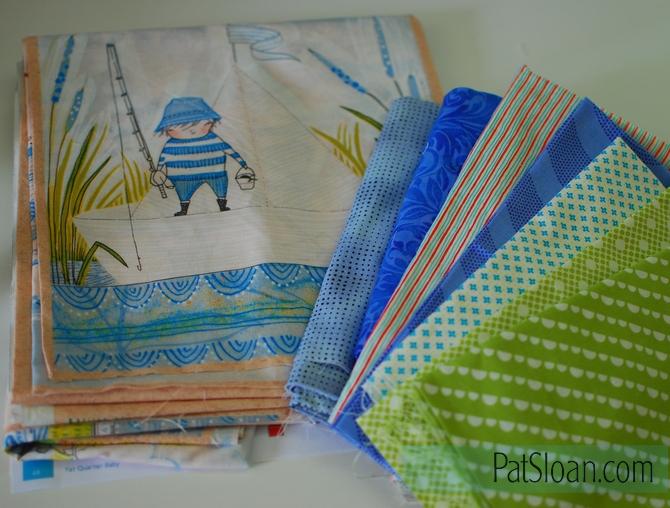 Pat Sloan boy quilt fabric