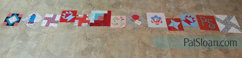 Pat sloan birthday block quilt back making4