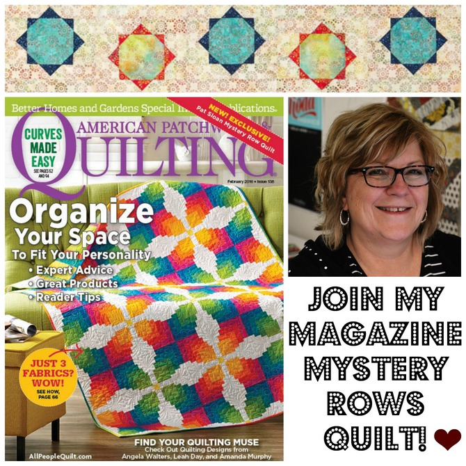 Pat sloan mystery row quilt