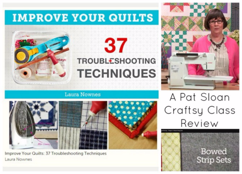 Pat sloan class review improve your quilts 1