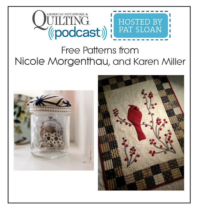 Listen Learn Sew with Pat on machine quilting, scraps, finding the ...
