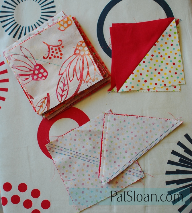 Pat Sloan Red white triangles 1