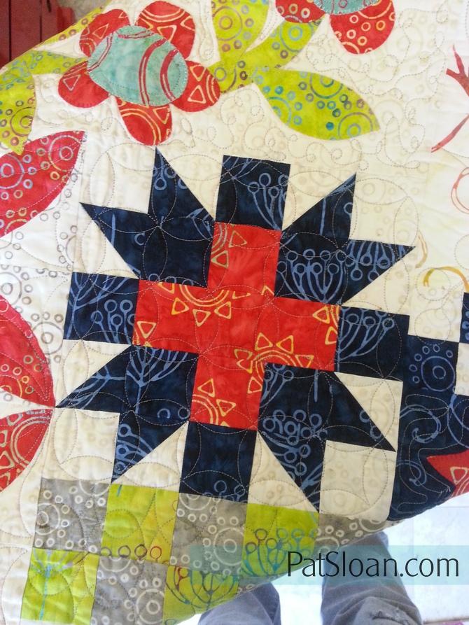 Pat Sloan Hometown Charm Plus block batik