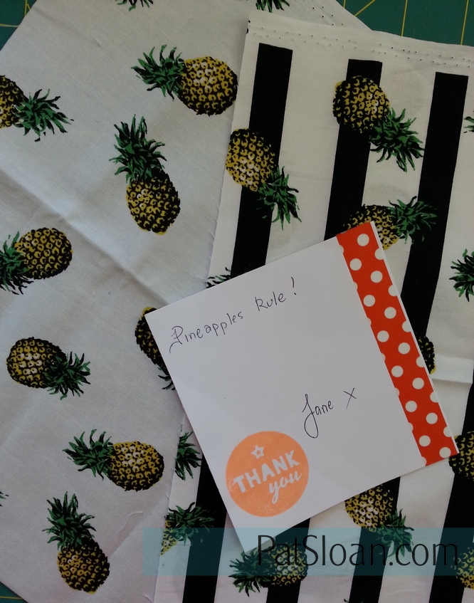 Pat Sloan Pineapple fabric
