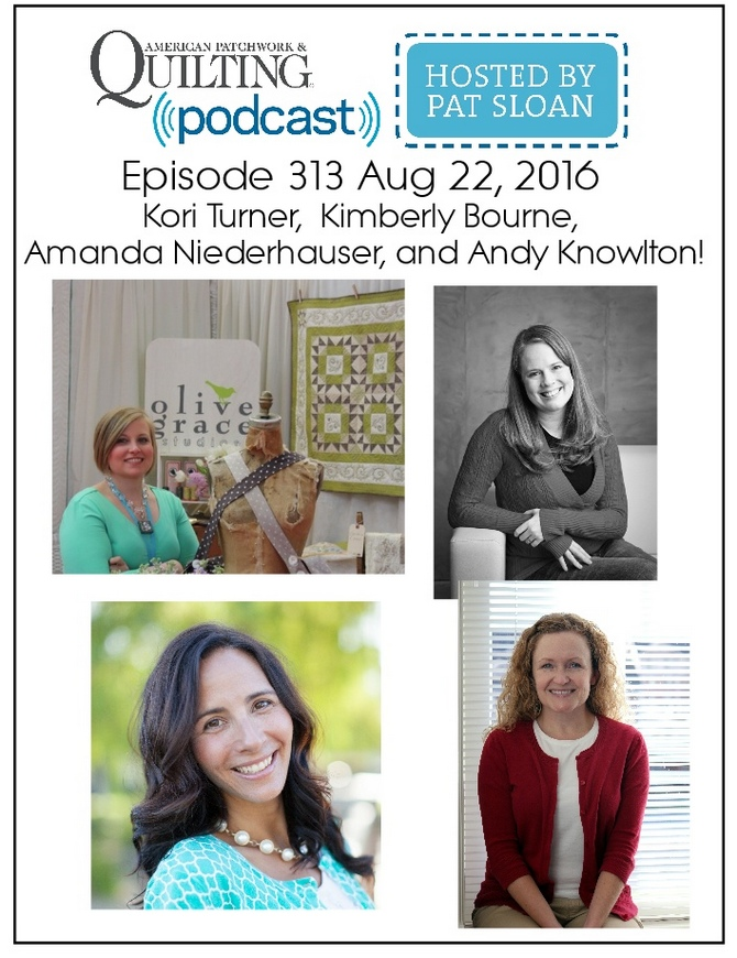 2 American Patchwork Quilting Pocast episode 313 Aug 22 2016