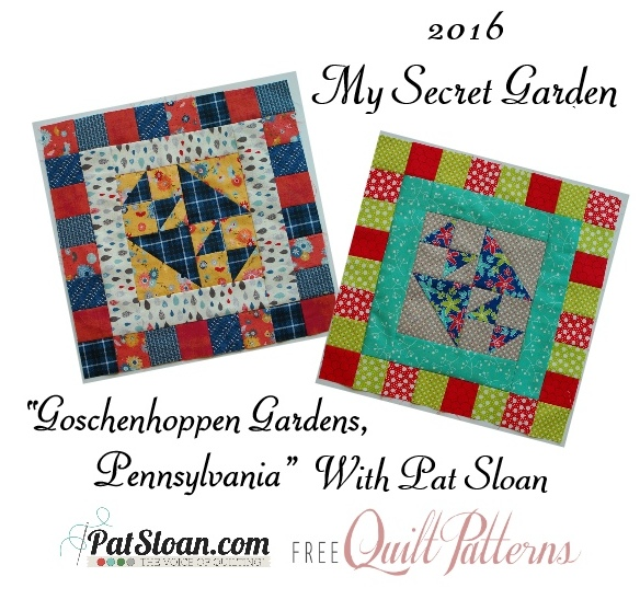 2016 10 Oct Pat Sloan Secret Garden Mystery