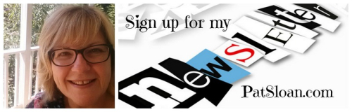 1 pat sloan newsletter signup at blog