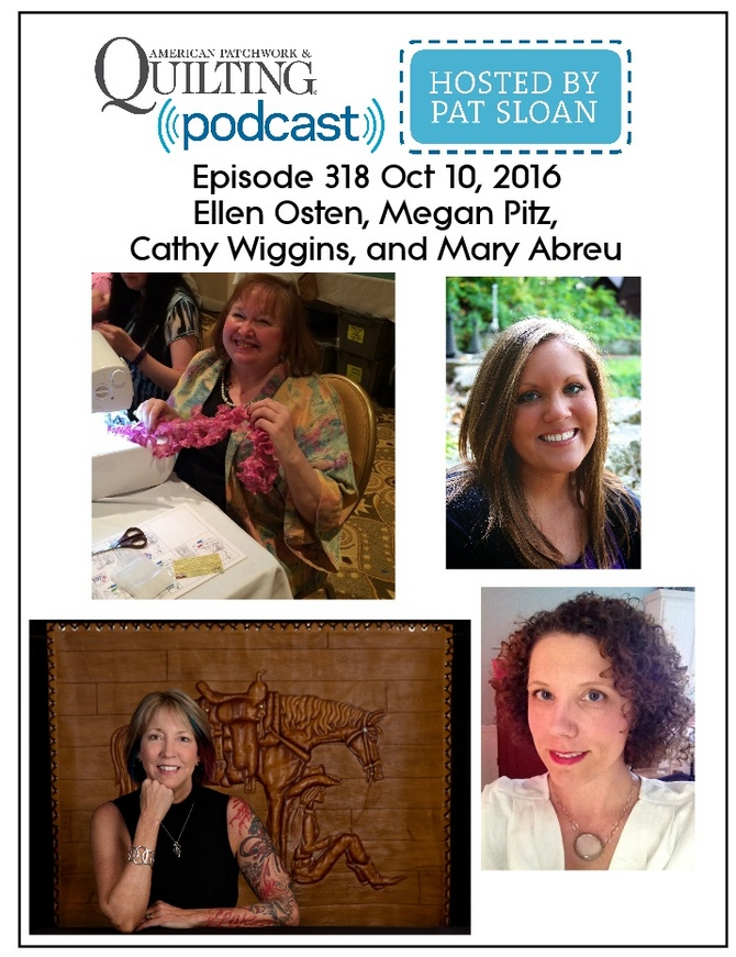2 American Patchwork Quilting Pocast episode 318 Oct 10 2016
