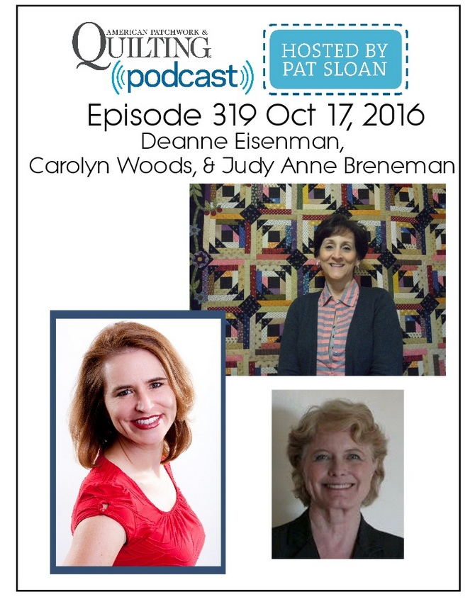 2 American Patchwork Quilting Pocast episode 319 Oct 17 2016
