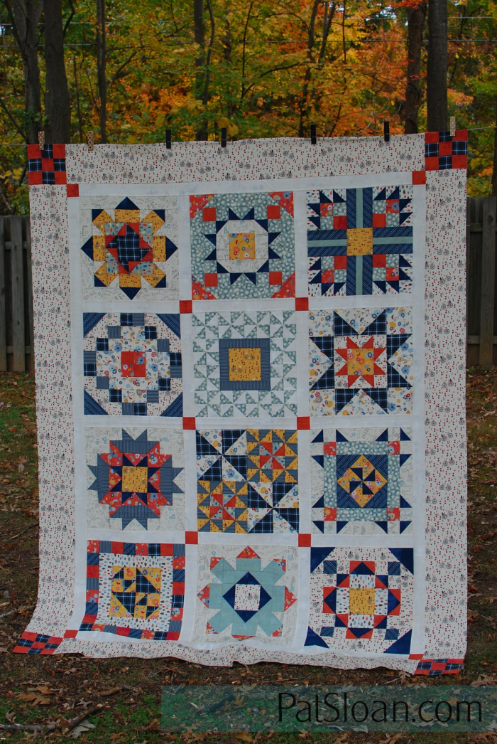 Pat Sloan final secret garden quilt in Mon Ami