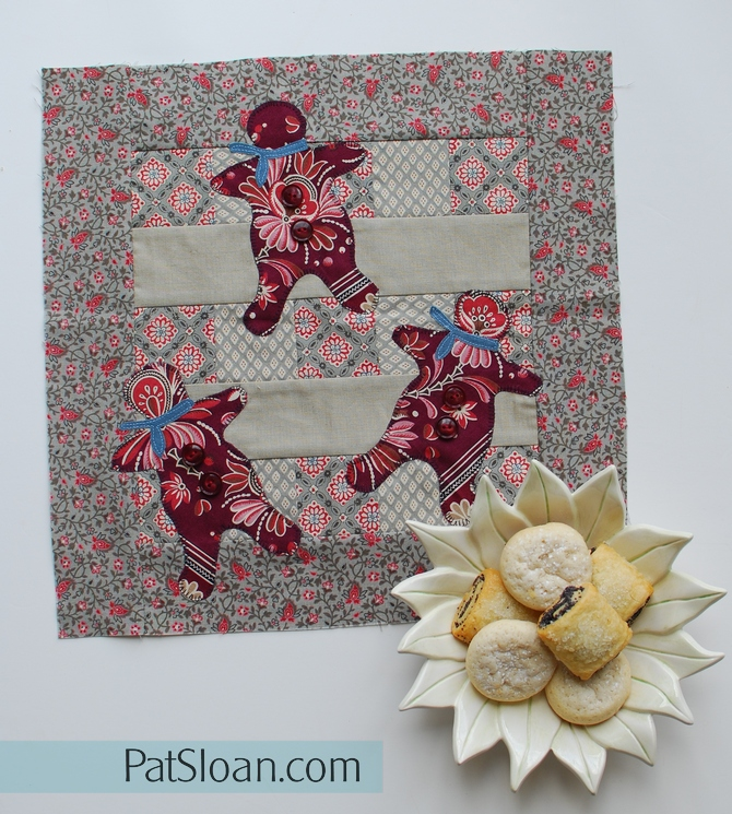 Pat Sloan Grans gingerbread mini quilt