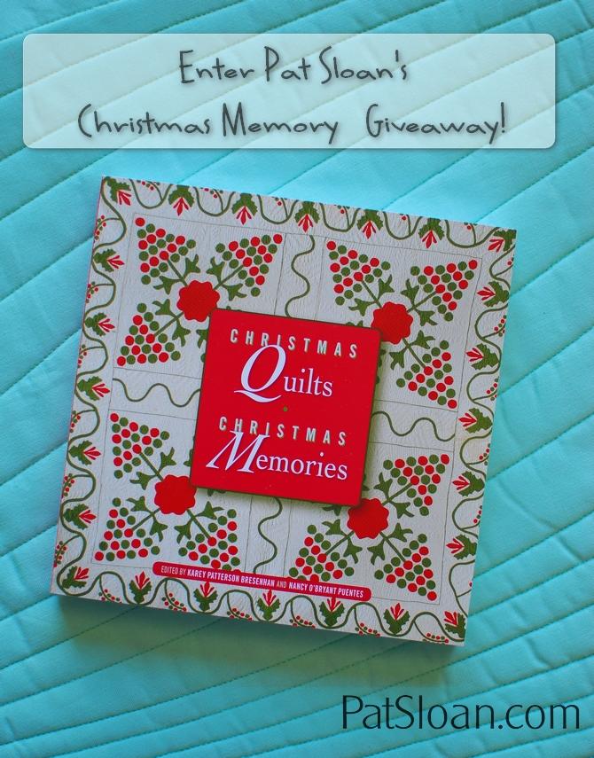 Pat Sloan Christmas Memory Giveaway