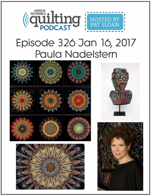 American Patchwork Quilting Pocast episode 326 Paula Nadelstern