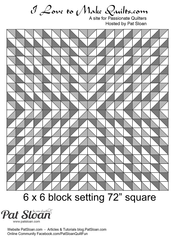 Pat Sloan Block 7 Solstice Challenge layout option