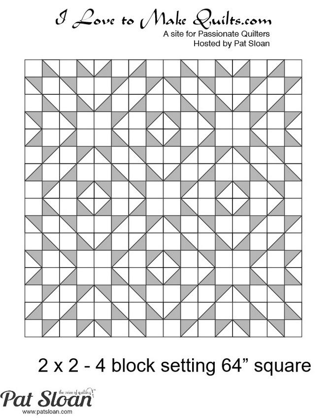 Pat Sloan Solstice Block 9 layout 1 Diagram