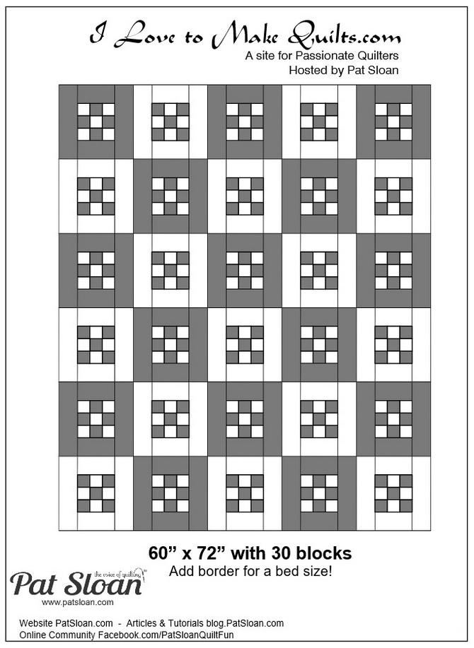 Pat Sloan Block 14 full quilt variation Solstice Challenge