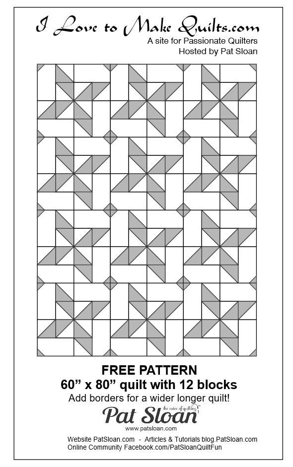 Pat Sloan Block 15 repeat quilt Solstice Challenge