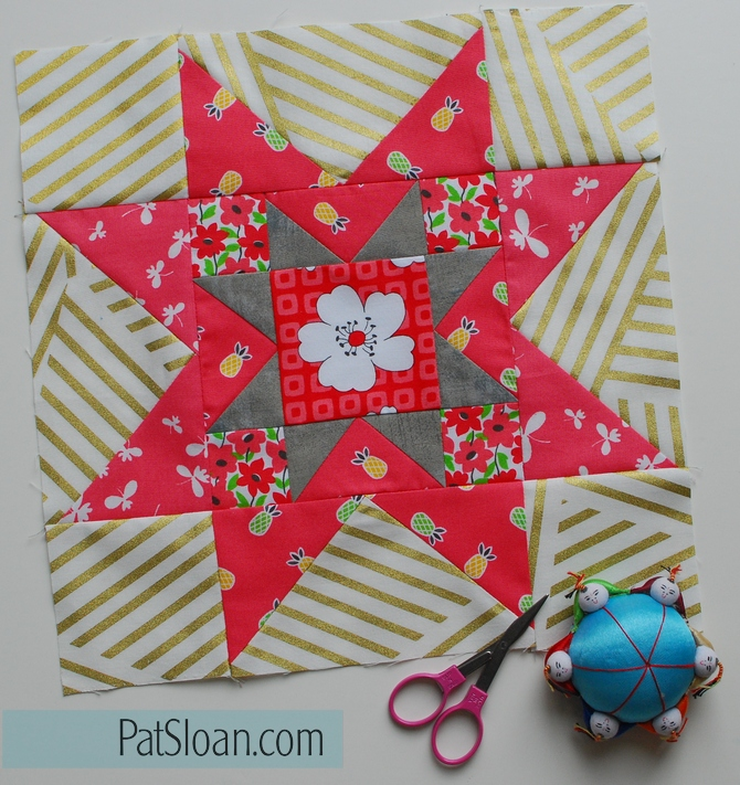 Pat Sloan Childrens library block 4 colorway 2
