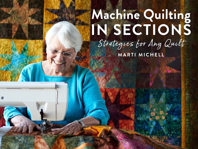 Marti quilt in sections